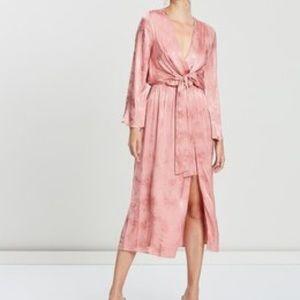 Topshop snake jacquard dress